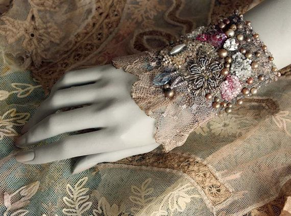 1920 delicate feminine wrist wrap from vintage and antique