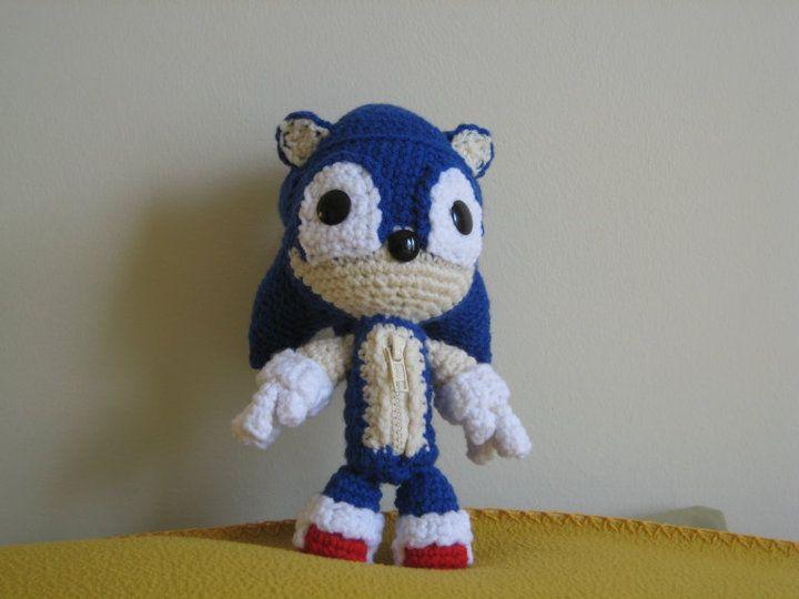 Geek Amigurumi Pattern : Free sonic the hedgehog free crochet pattern by the golden jelly