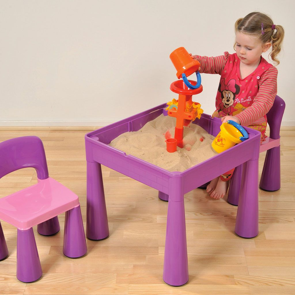 8686d6745d82 Liberty House Toys 5-in-1 Multipurpose Activity Table   2 Chairs - purple