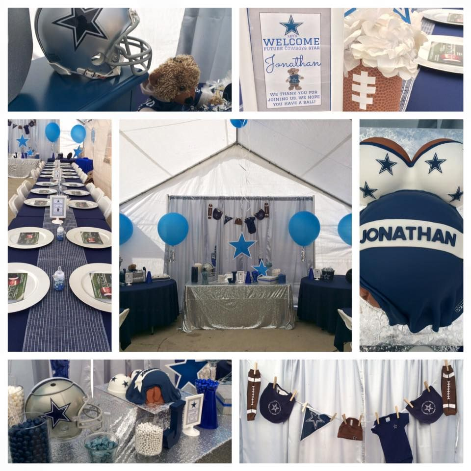 Dallas Cowboys Baby Shower display table - candy table ...