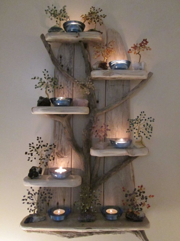 Fairy Tree Unique Driftwood Shelves, Solid, Rustic, Shabby