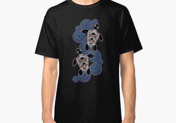 Aboriginal art authentic sea turtles classic  shirt also products rh pinterest