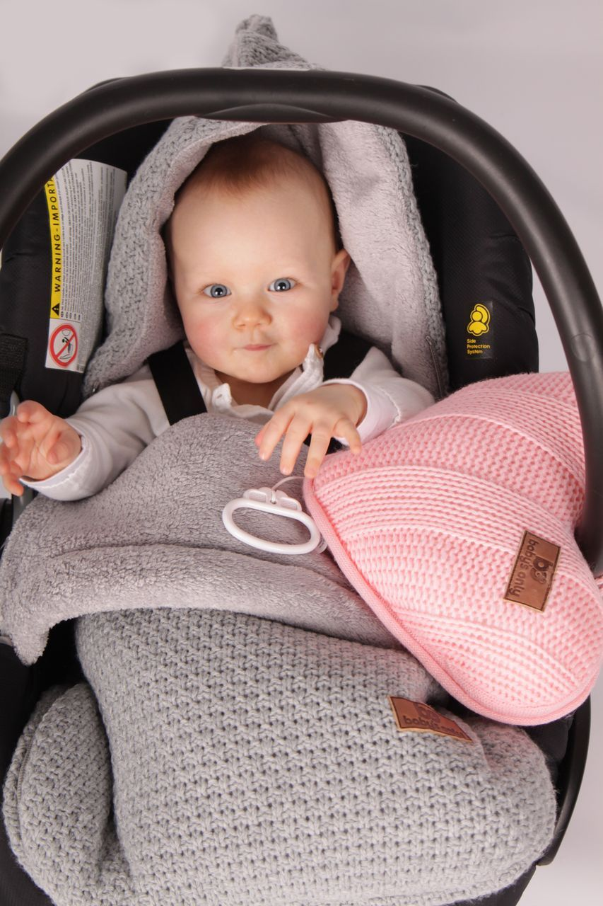 babys only strick fusack mit plsch robust grau im fantasyroom shop