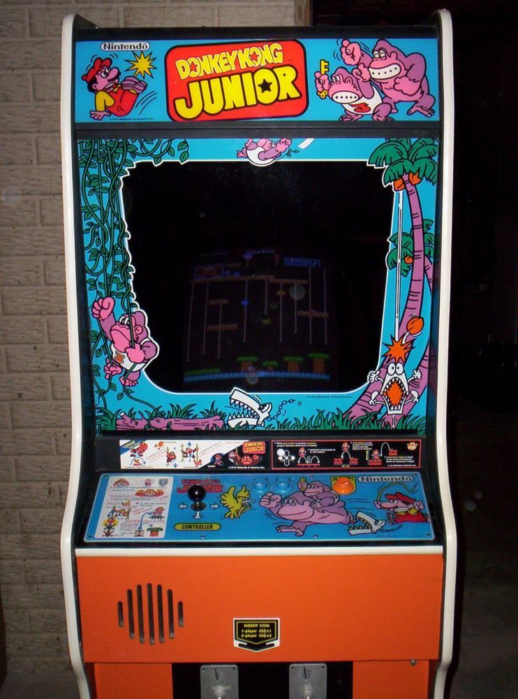 Donkey Kong/Donkey Jr. vintage coin operated arcade game