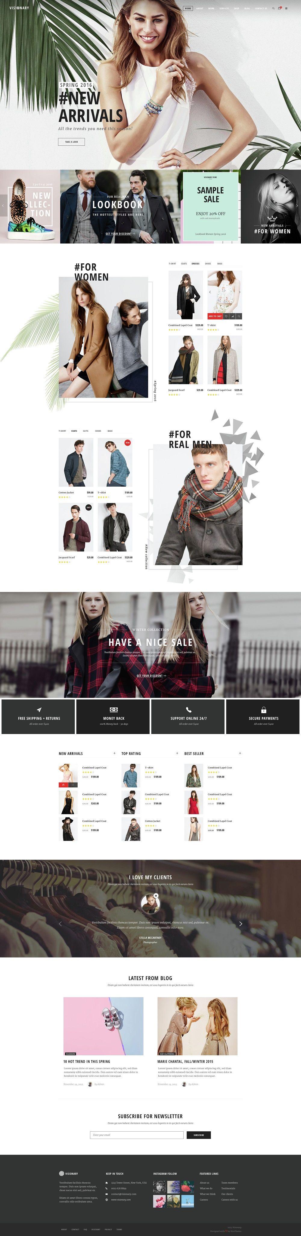 Modern Ecommerce Website Themes #ECOMMERCE #DESIGN