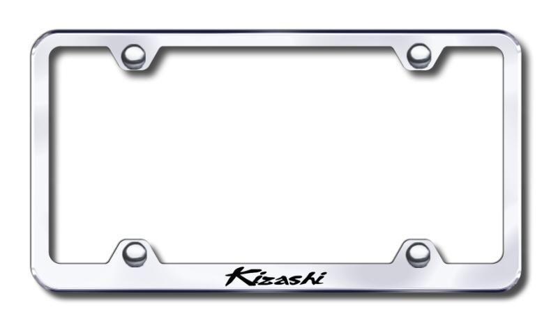 Kizashi Wide Body Laser Etched Chrome License Plate Frame | Category : License Logo Plate Frames | Manufacturer : Suzuki | Model : LFW.KIZ.EC | SKU Number : 9928355 | Price: $29.95