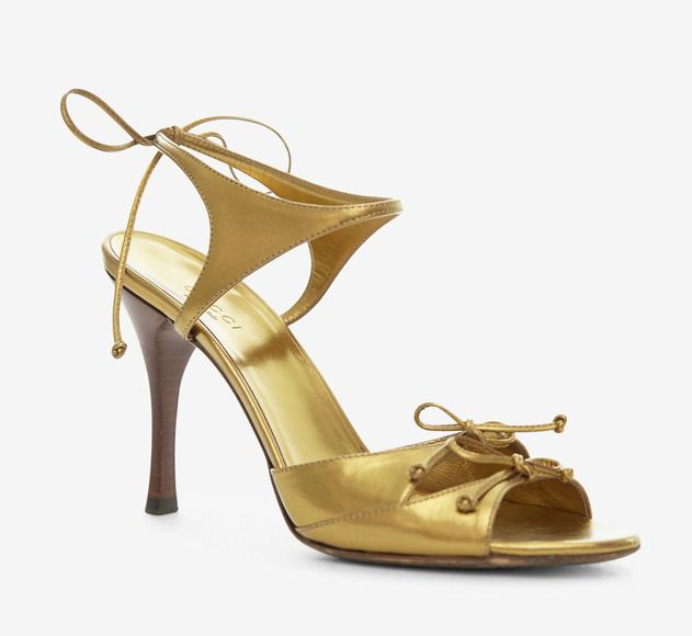 Gucci Gold Rose Sandal