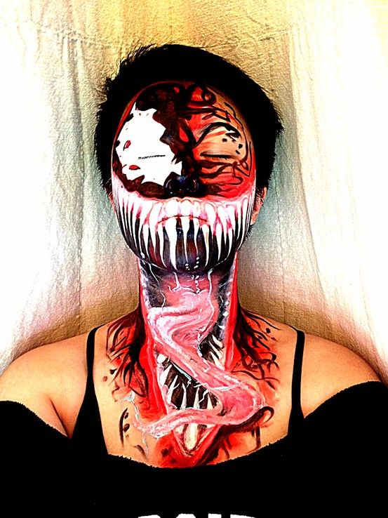 My carnage face/body art using Ben Nye creme colors, Makeup ...