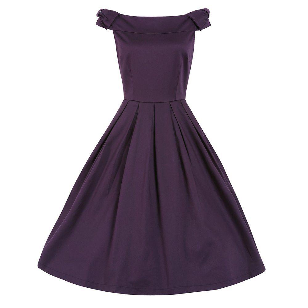 Christie Purple Off Shoulder Swing Dress Vintage Dresses Lindy Bop Purple Swing Dress Prom Dresses Vintage Swing Dance Dress [ 1000 x 1000 Pixel ]