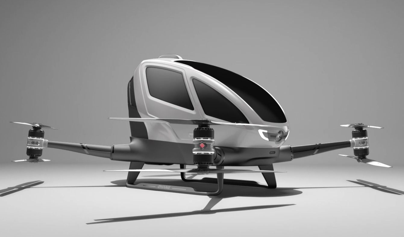 Single manned drone