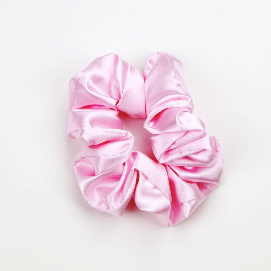 Satin Scrunchie Pink Hair Scrunchies Hair Jewels