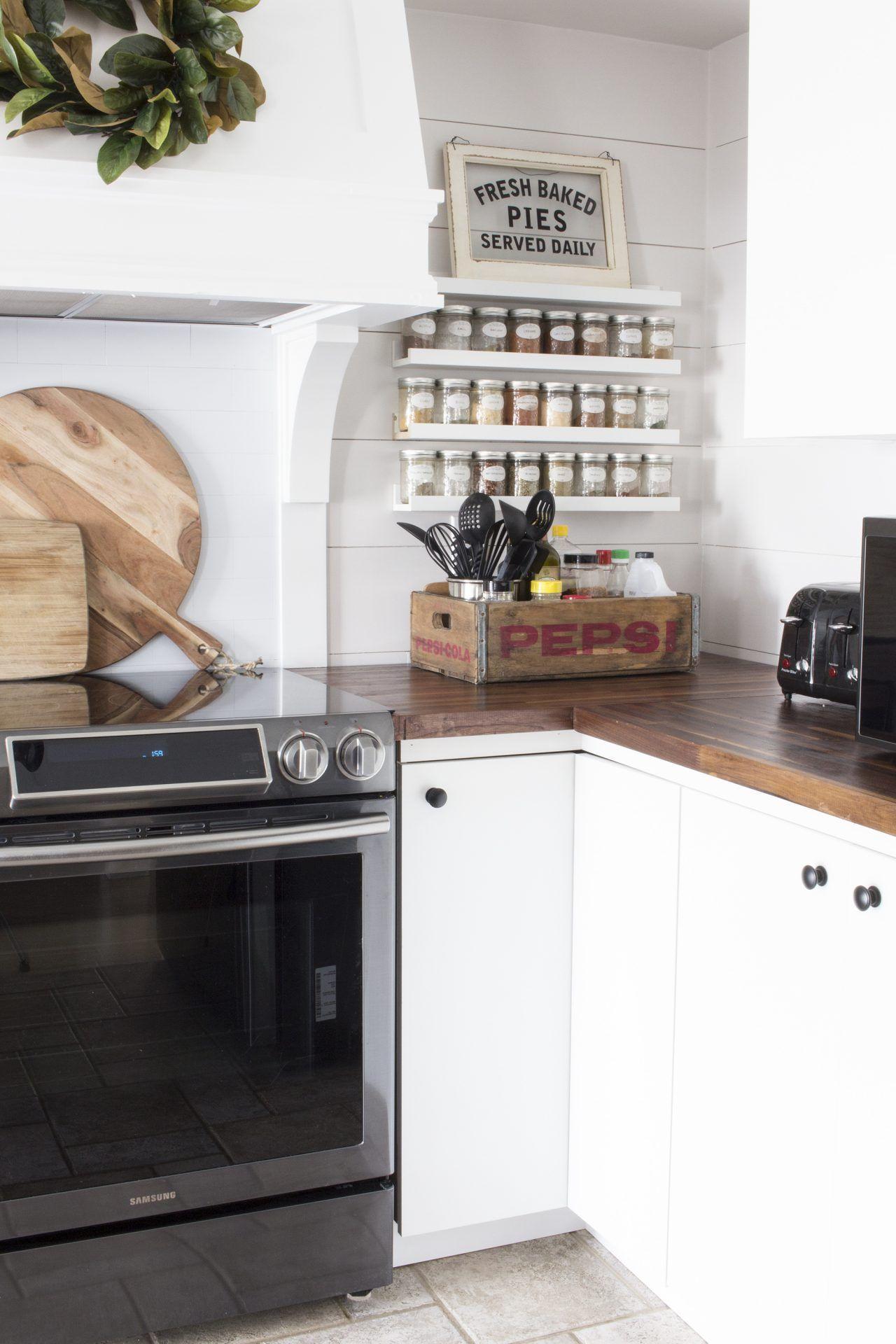 OUR MODERN FARMHOUSE KITCHEN MAKEOVER | Diy kitchen ...