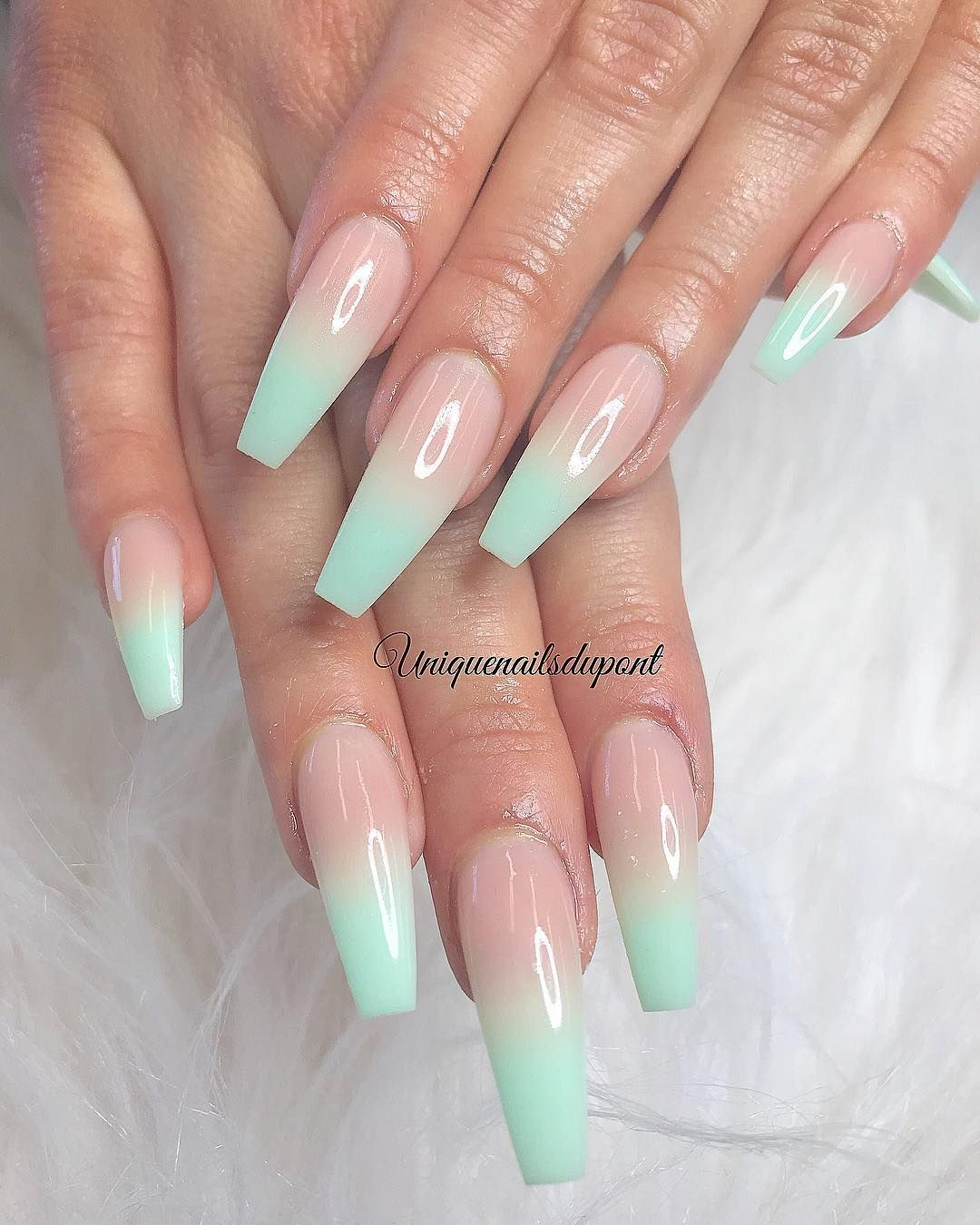 Tina Le On Instagram Thank You Summer Cjs For Your And Support Biogel Fullset With Ombre 41 Bos Coffin Nails Designs Coffin Nails Long Summer Nails Colors