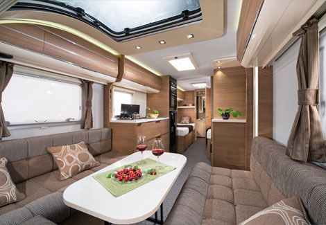 caravans adria mobil caravan interieur pinterest motorhome. Black Bedroom Furniture Sets. Home Design Ideas