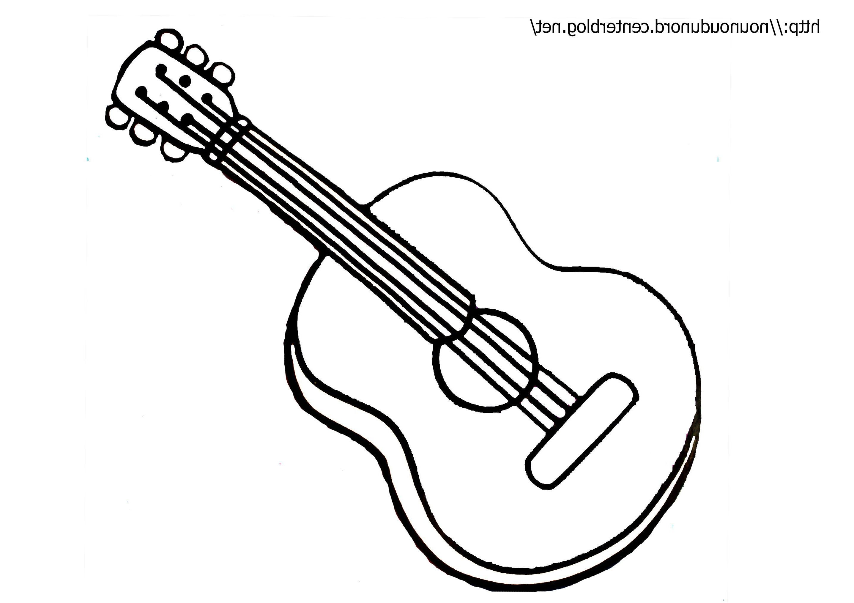 10 Fabuleux Coloriage Guitare Stock Coloriage Guitare Coloriage Musique Dessin Instrument De Musique