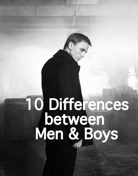 Mature men and boys
