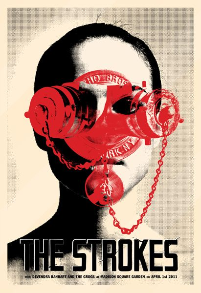 The Strokes gig poster by Jonathan Caplan