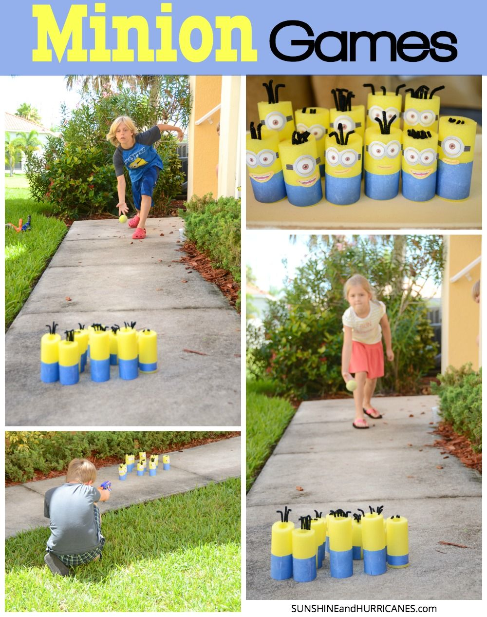 Minion Games - Nerf and Bowling | Nerf games, Minion games ...