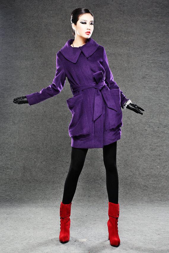 Purple Coat Jackets Winter Coats For Women Winter Wear Pinterest