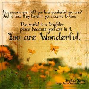 Wonderful Person Quotes Good Quotes Word Quotes Wonder Quotes
