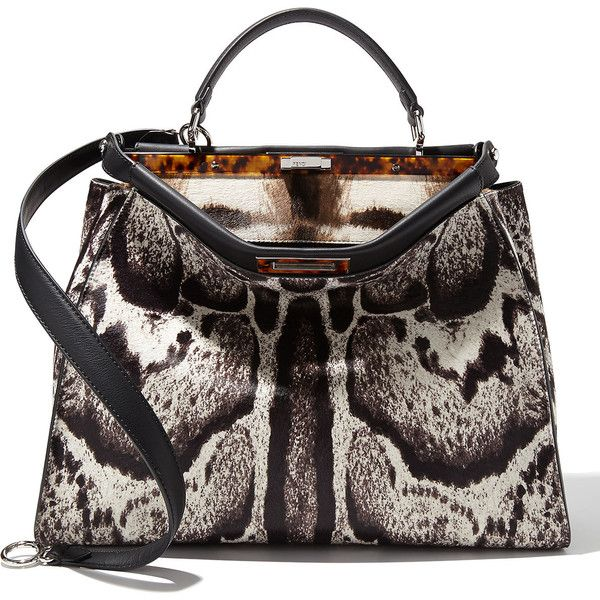 e21f7a63c945 Fendi Peekaboo Large Calf Hair Satchel Bag (€6.135) ❤ liked on Polyvore  featuring bags