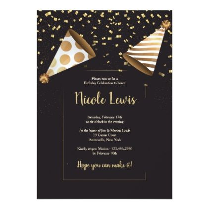 Elegant Birthday Party Invitations For Adults