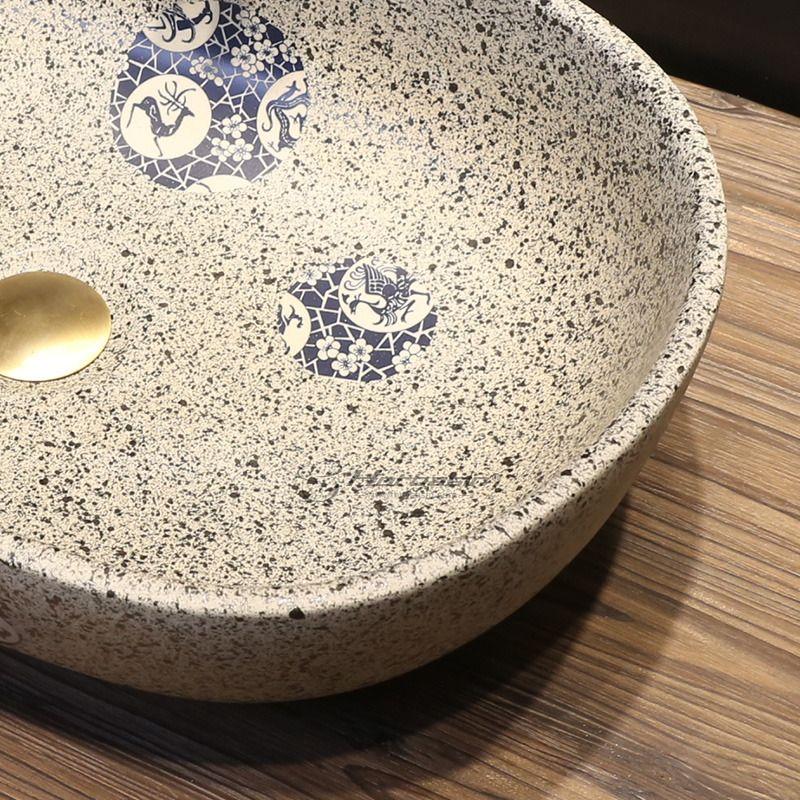 Vintage Uponmount Oval Ceramic Vessel Sinks With Enamelling For Bathroom In 2020 Ceramic Vessel Vessel Sinks Ceramic Bathroom Sink