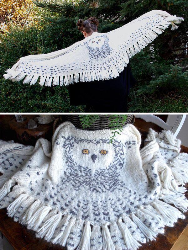 Photo of Strickanleitung für Hedwig Owl Shawl – #für #Hedwig #Owl #Shawl #Strickanleitu…