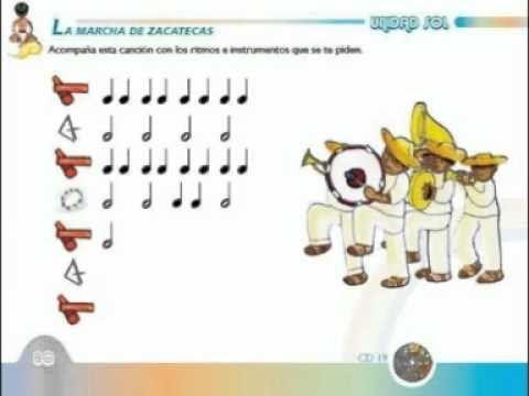 LA MARCHA DE ZACATECAS MUSICOGRAMA.mpg - YouTube | Musica para niños ...