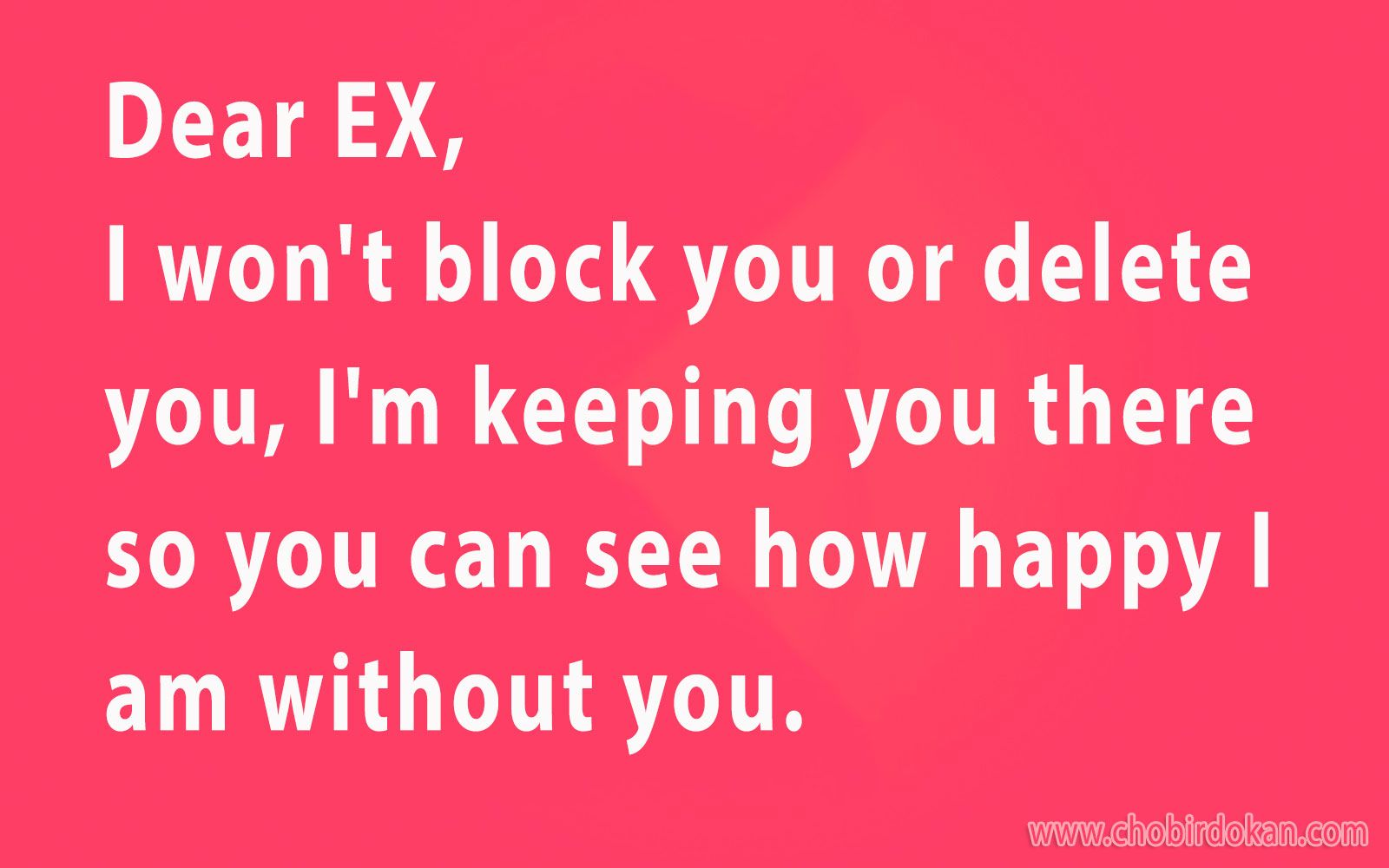 Dear Ex Girlfriend Quotes Dear Ex I Wont Block You Or Delete You