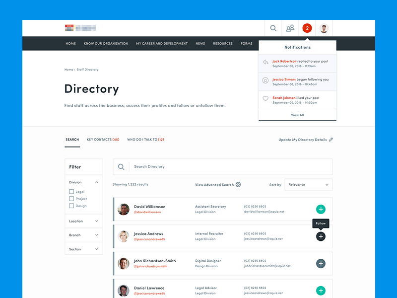 Staff Directory  Staff Directory And Ui Ux
