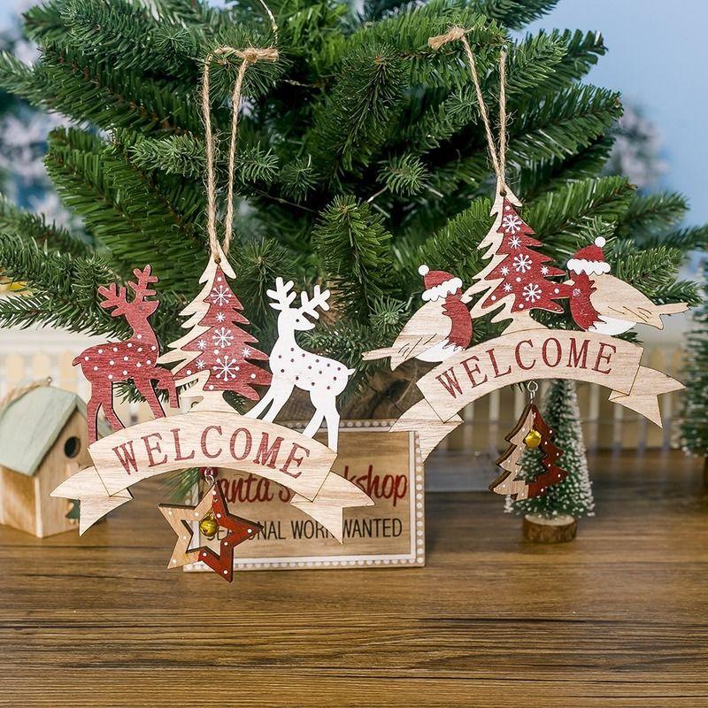 Ornaments Xmas Tree Garland Pendant Christmas Decoration Snowflake Banner