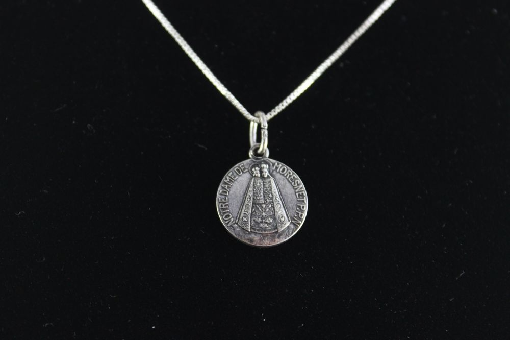 Vintage sterling silver necklace and notre dame pendant pendant vintage sterling silver necklace and notre dame pendant pendant aloadofball Images