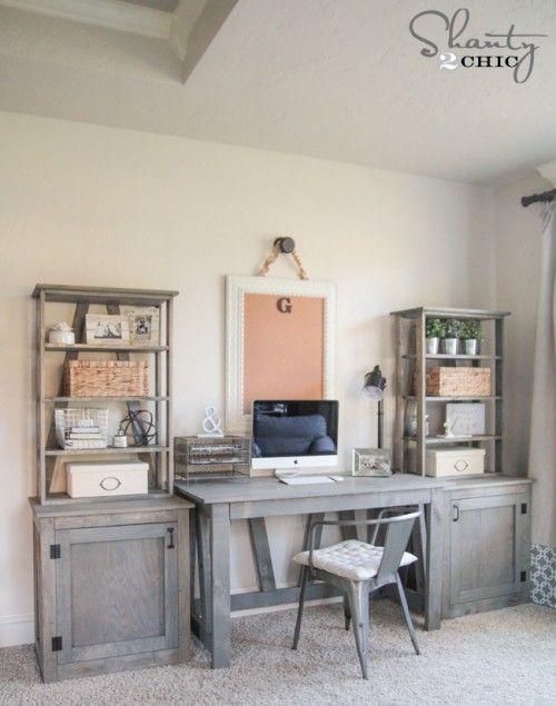 Unique Diy Home Office Cabinets