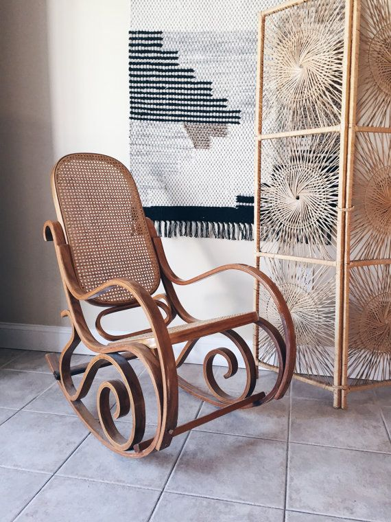 Bentwood Rocker, Cane Chairs, Rocking Chairs, Sunroom, Mid Century, Rattan  Chairs, Rocking Chair Pads, Medieval, Wicker Chairs