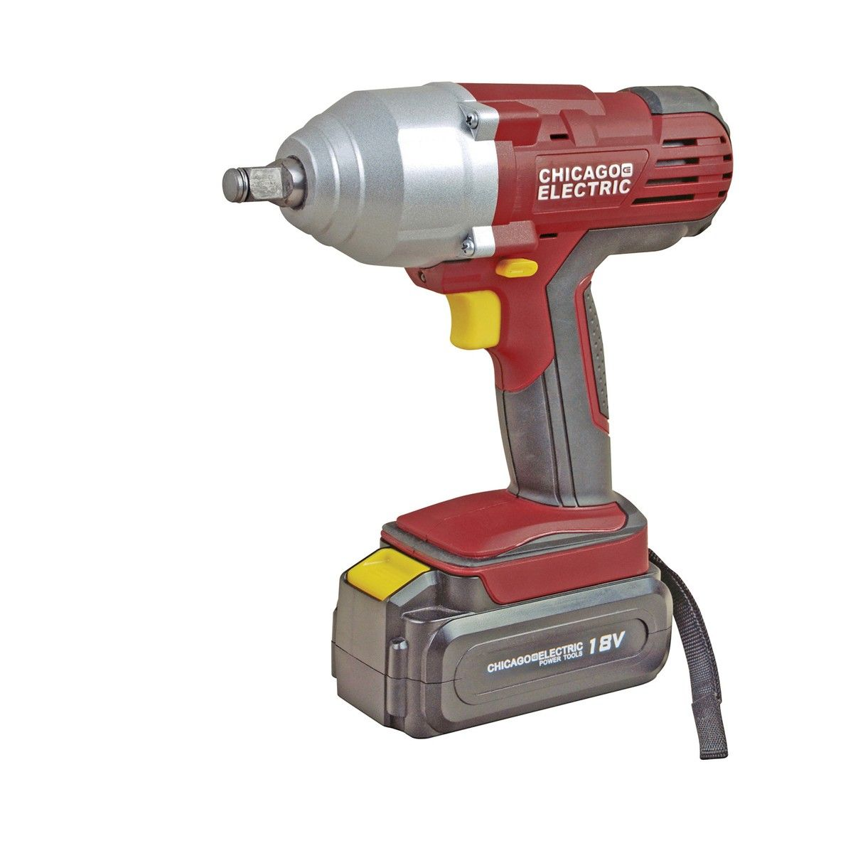 Chicago Electric Tools 60380 1 2 18 Volt Cordless Impact Wrench