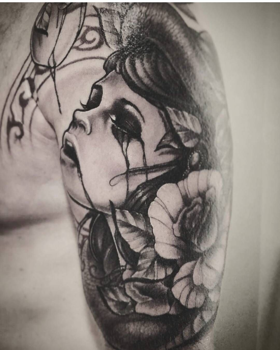 Eve And Apple Garden Of Eden Snake Serpent Demon Satan Knowledge Of Good And Evi Easy Half Sleeve Tattoos Tattoos For Women Tattoos For Women Half Sleeve