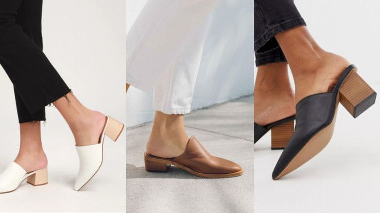 18 Must Have Pointed Toe Mules To Slip Into This Spring Huffpost With Images Mules Leather Heels
