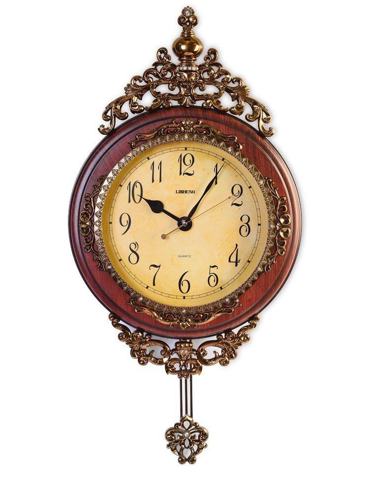 Grandfather Wall Clock Vintage Pendulum Living Room Decor Ideas ...