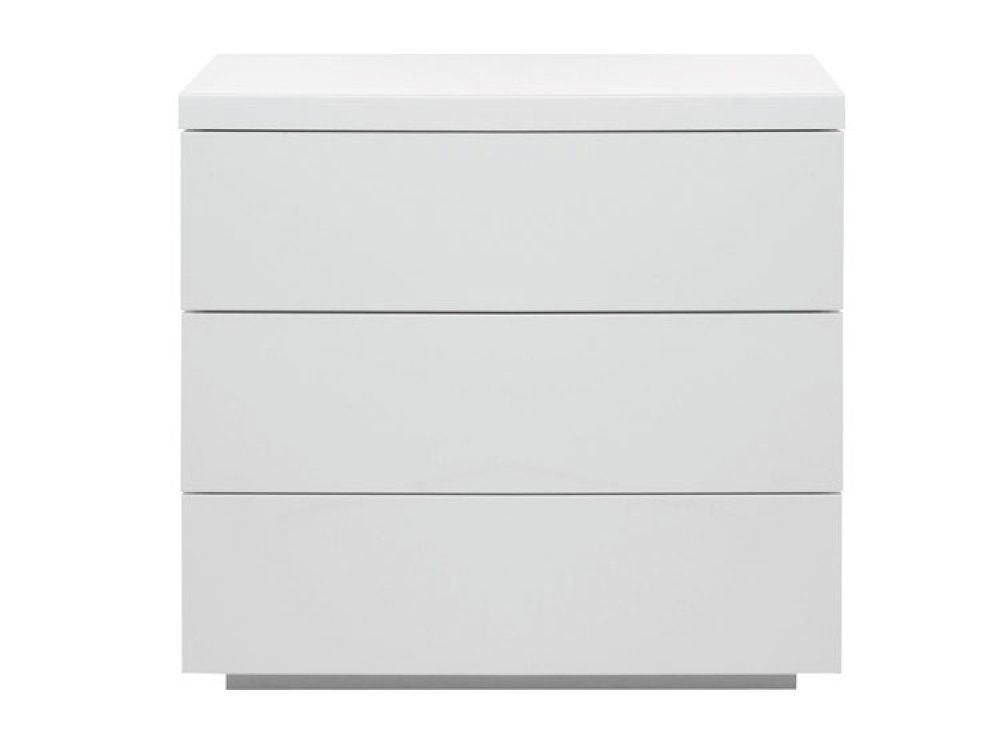 The Breeze White High Gloss 3 Drawer Wide Chest Is An Elegant