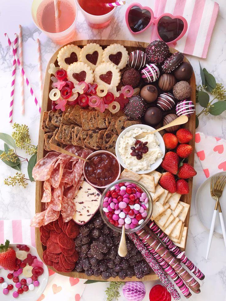 Valentine's Day Grazing Board. - DomestikatedLife