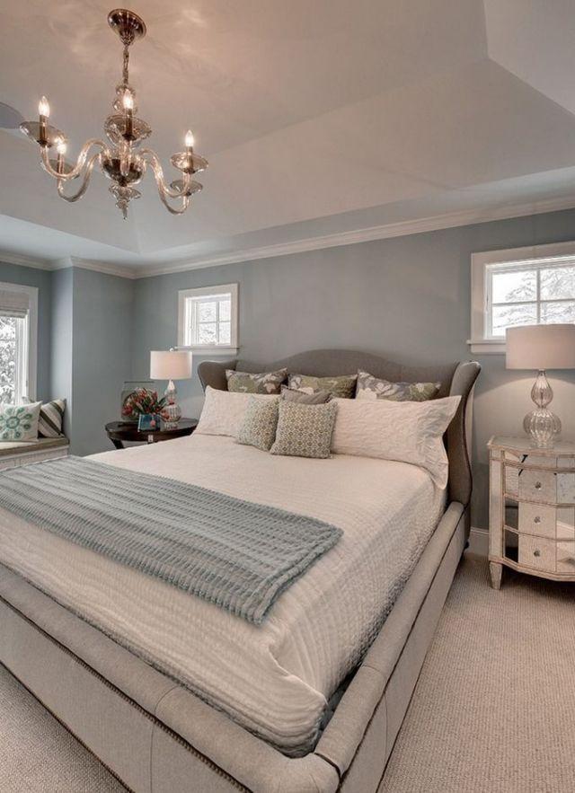 Schlafzimmer Blaugrau | Hellblau Wandfarbe Schlafzimmer Polsterbett Ausziehbett Schlafzimmer