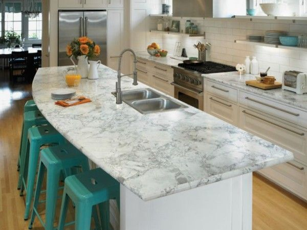 Image Of Terrific Formica Kitchen Countertops Colors With Drop In Stainless Steel Sink Below Fontaine Spring Faucet Across Ceramic Flower Jug Also Plastic