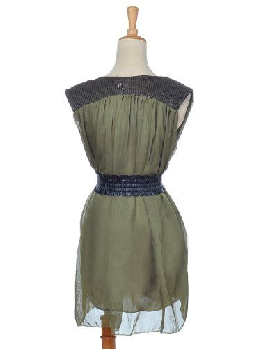 $15 Anna-Kaci S/M Fit Pretty Olive Green Sleeveless Cocktail Party Dress w BeltFrom Anna-Kaci $15