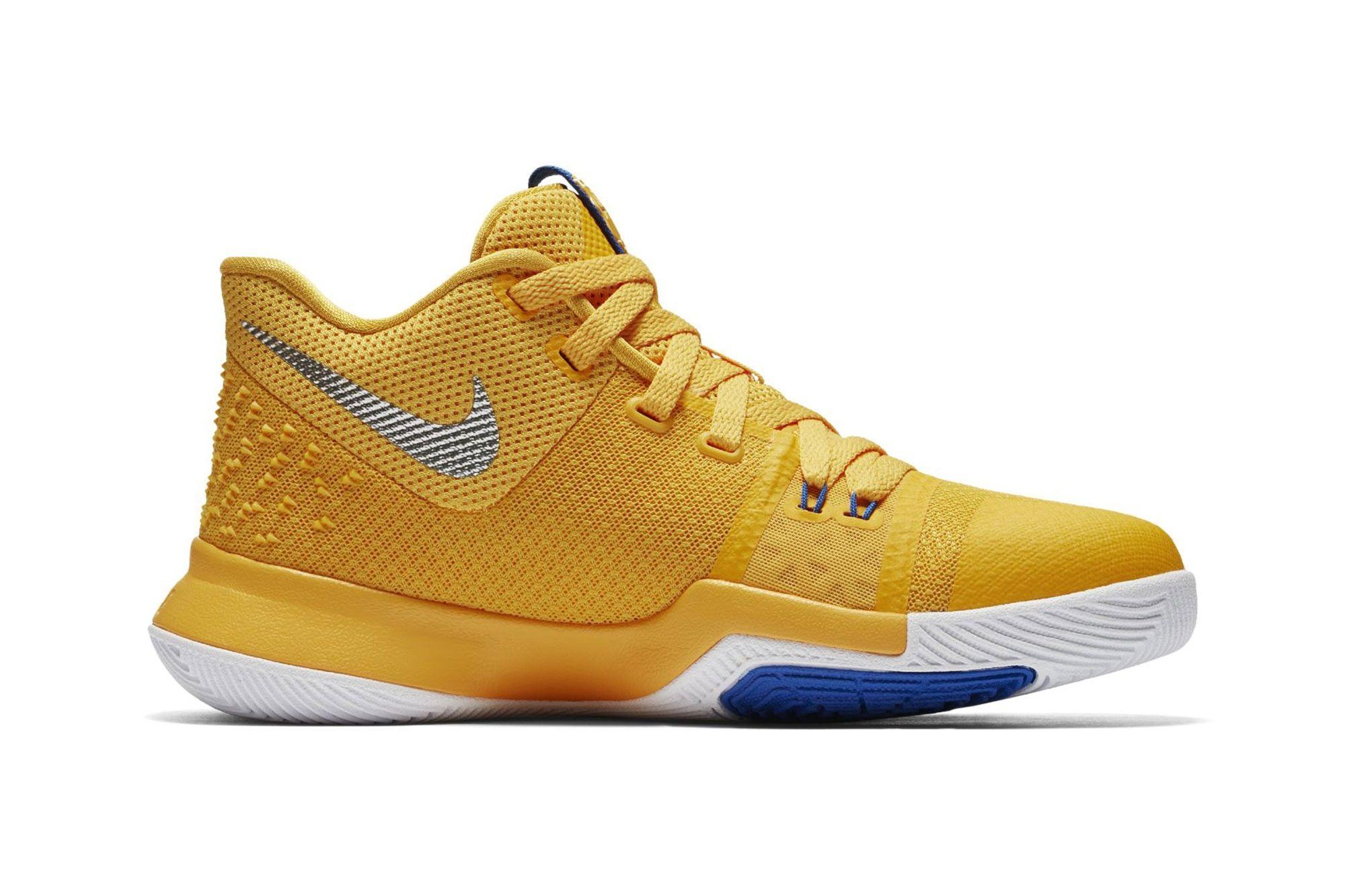 watch 19197 8609f Nike Basketball Kyrie Irving 3 Macaroni Cheese Mac Cleveland ...