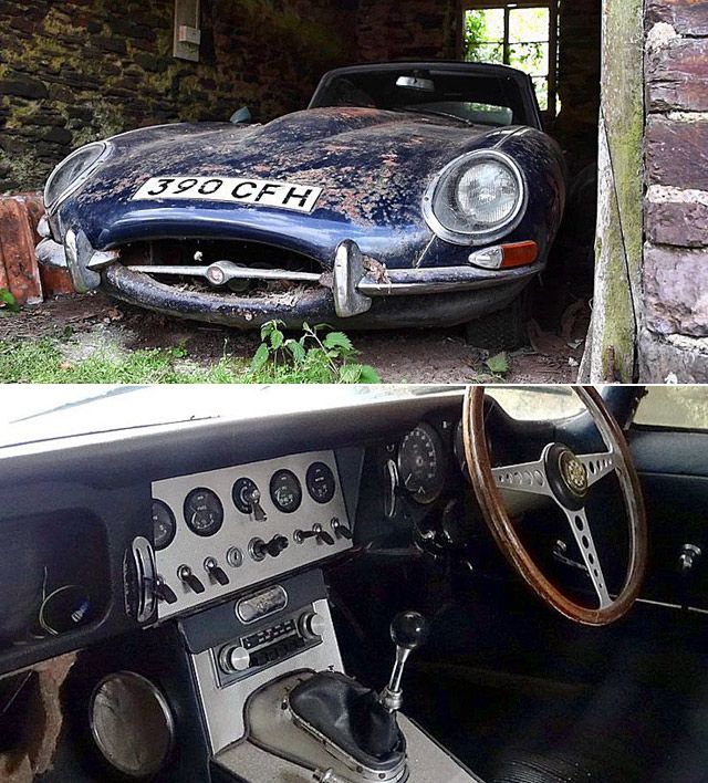 Rare Jaguar E-Type 3.8 Coupe Barn Find – Found After 30 Years Hidden In A Barn
