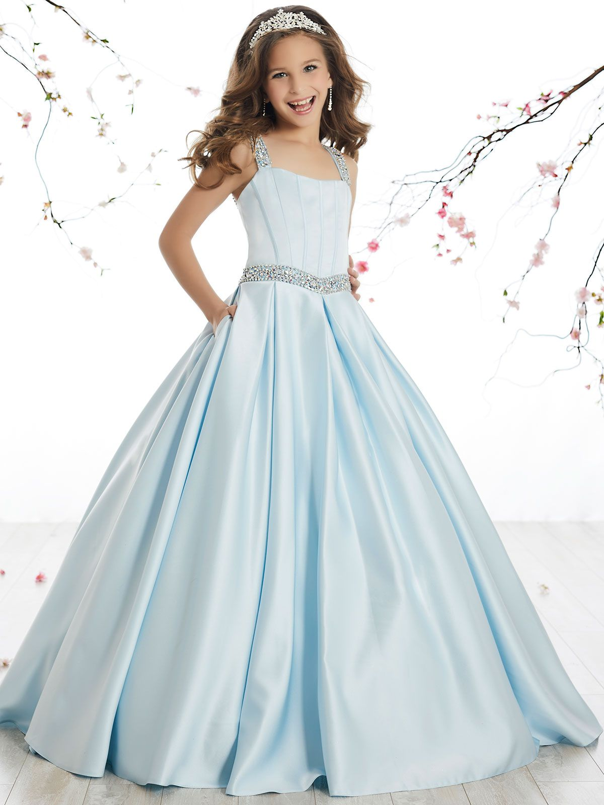 b6c4cd99341 Tiffany Princes 13510 Scoop Neckline Pageant Dress