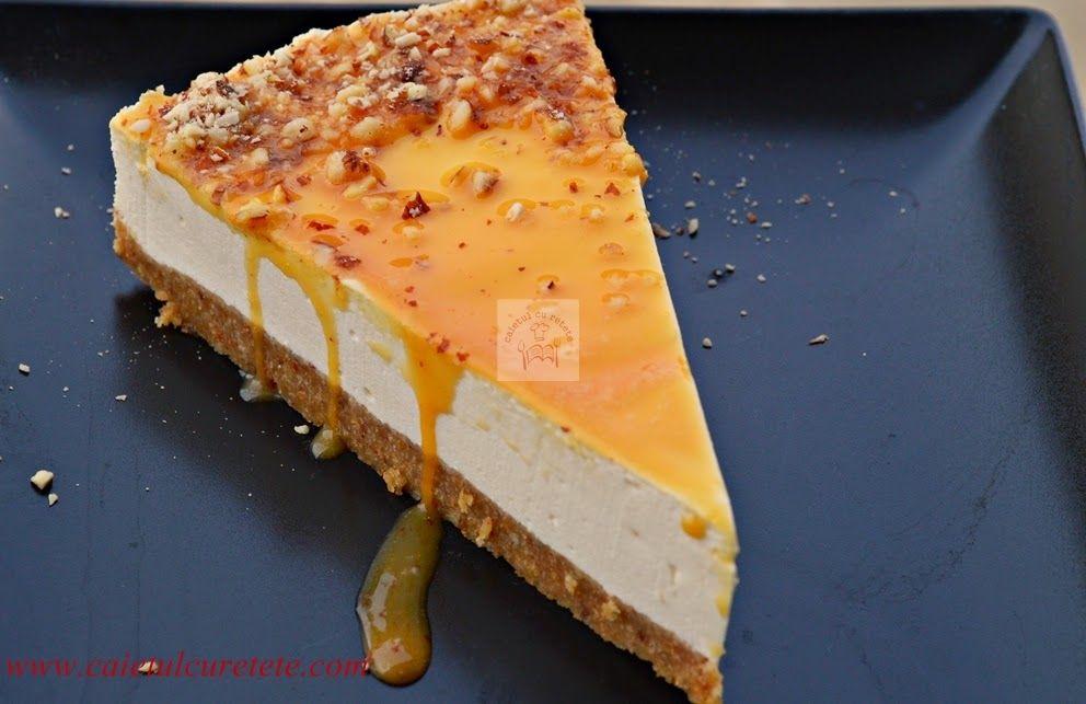 Cheesecake cu blat de piscoturi