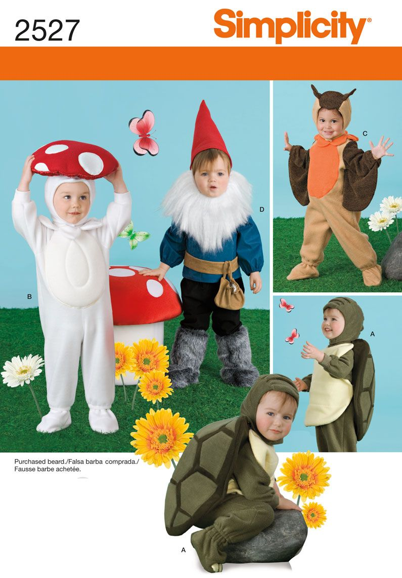 Purchase Simplicity 2527 Toddler Costumes and read its pattern reviews.  Find other Costumes, Toddlers, sewing patterns.