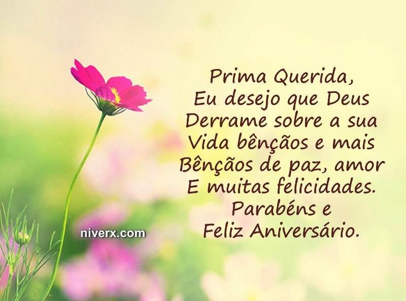 Feliz Aniversário Prima Celular Whatsapp Facebook C42 Imagem